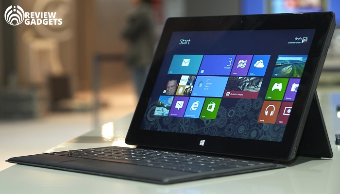 Microsoft Surface Pro laptop tablet front view