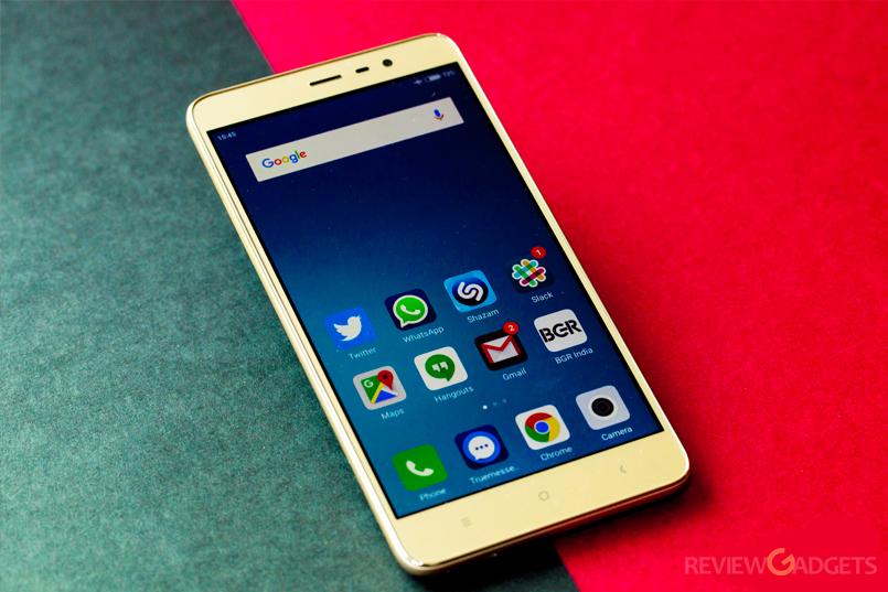 Xiaomi Redmi 3s has a 5.5-inch Full-HD display