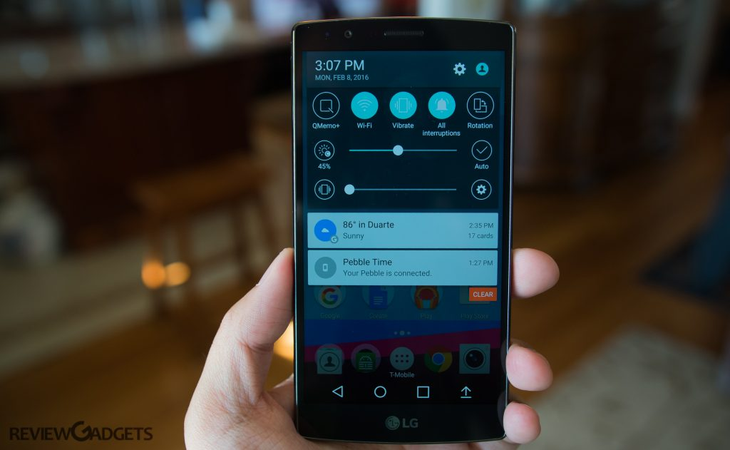 The LG G4 runs on Android 5.1 Lollipop